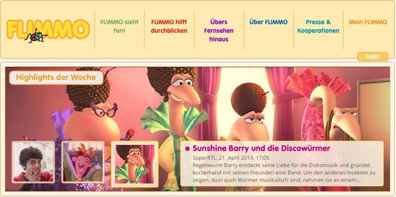 Screenshot aus www.flimmo.tv