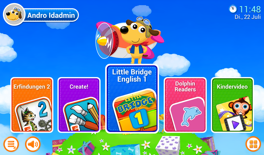 Der Screenshot zeigt eine Auswahl an Kinderapps.