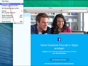 Einstellungen Skype