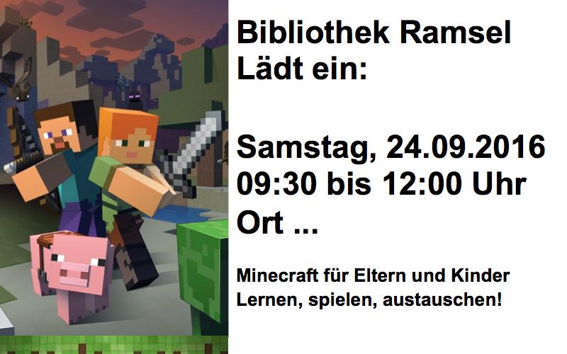 Bibliothekten Gibt Es Gute Programmideen Zischtigch - Minecraft spielen lernen